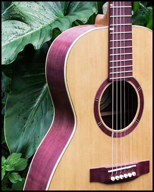 Guitarra acústica artesanal Amaranto tapa