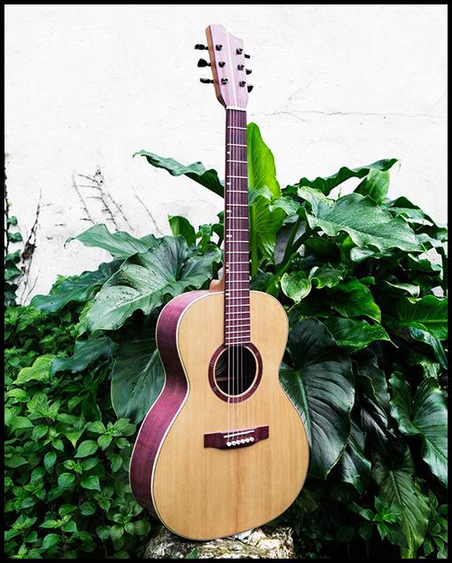 Frente guitarra artesanal Amaranto