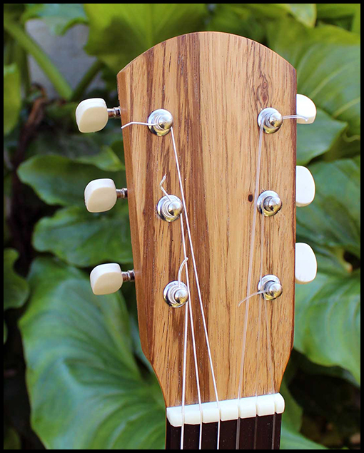 Guitarra de viaje modelo estándar Santi detalle pala