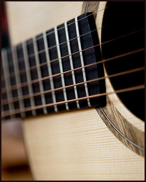 Detalle guitarra de luthier