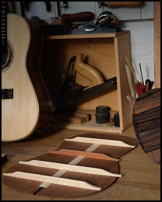 reparando guitarra Sabadell Matías Costa luthier