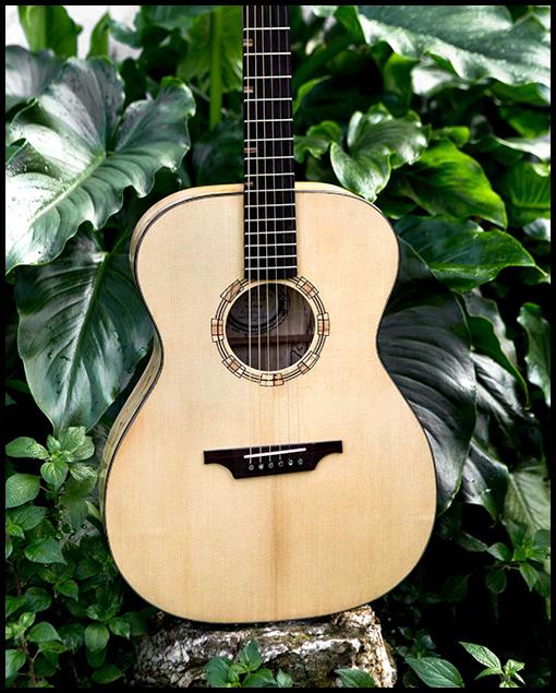 Frente guitarra artesanal de luthier Matias Costa