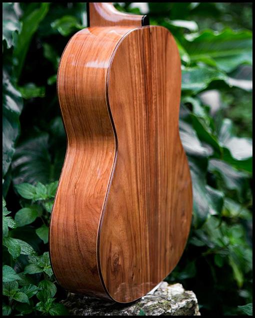 Parte trasera guitarra artesanal clásica Bossa